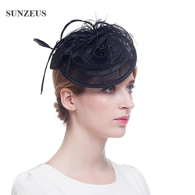 -Casamento Fascinators-And-Chapéus Hand-made Penas Chapéus De Noiva New Arrivals Headpiece SQ007
