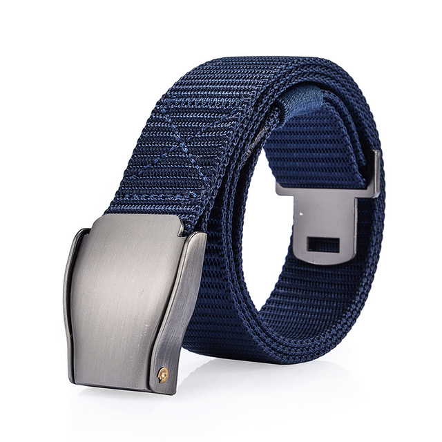 Men's Canvas Belt Metal Tactics Woven Belt Canvas Belt Casual Pants Cool Wild Gift for Men Belts Breathable For Jeans