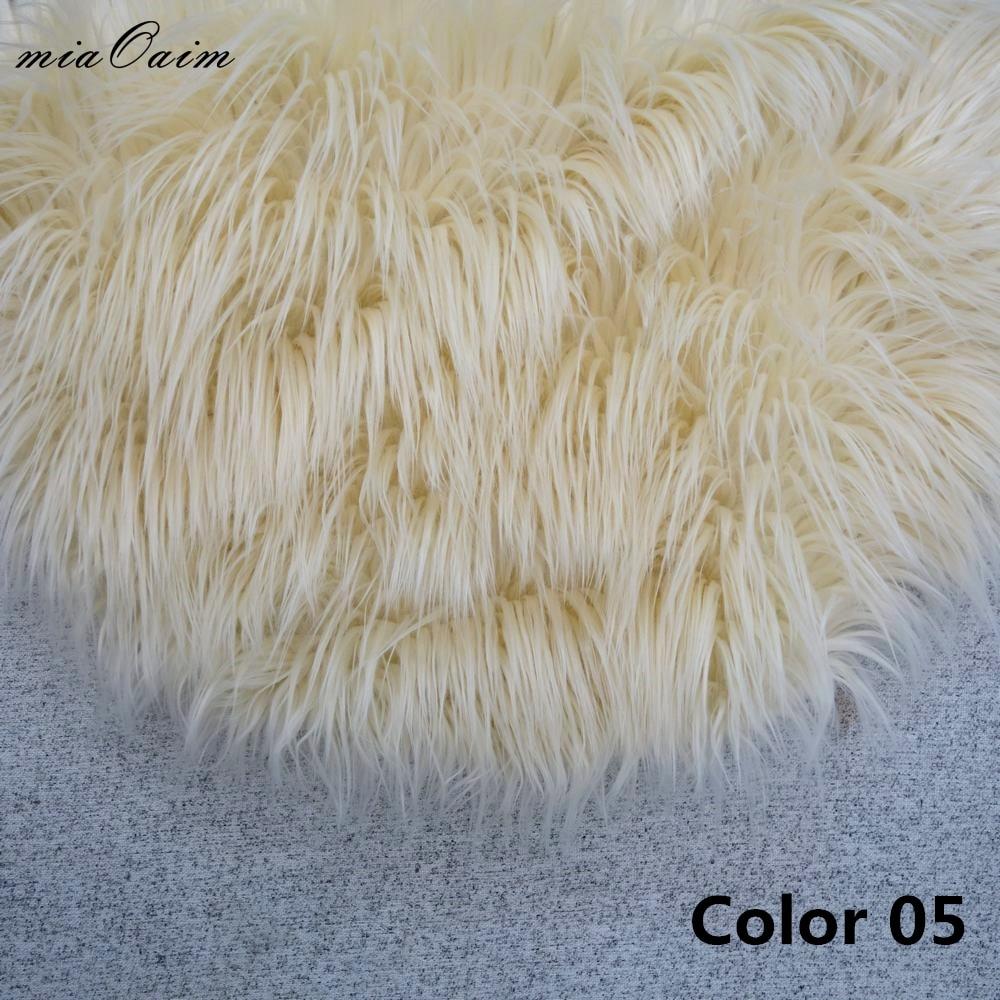 3Colors/lot Diameter=56cm Round Faux Fur Blanket Basket Stuffer Filler For Newborn Baby Photography Props Studio Photo Backdrops