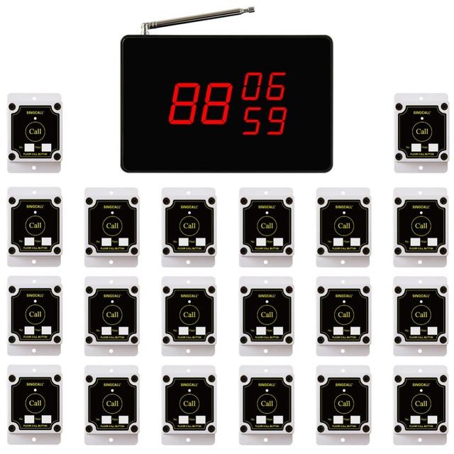 Singcall la obra sistema de llamada sin hilos, sistema de campana de fábrica, para Llamar Al Ascensor, almacenamiento de La Batería Puede Durar 5 horas.