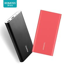 ФОТО original romoss rt10 10000mah aluminum body mobile power bank ultra-thin smart charger for apple iphone x 7plus samsung xiaomi