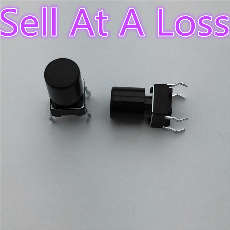 100pcs G62 High Quality Black Plastic Cap Hat  For 6*6mm Tactile Push Button Switch Lid Cover Sell At A Loss USA Belarus Ukr 10pcs g101 pbs 11a 2pin red plastic 12mm push button latching switch self lock 3a 250v high quality sell at a loss usa belarus