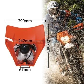Moto Rcycle Universal Scheinwerfer Kopf Licht Scheinwerfer Für 2017 18 KTM Headligt EXC XCF SX F SMR Enduro Dirt Bike Super Moto E-moto