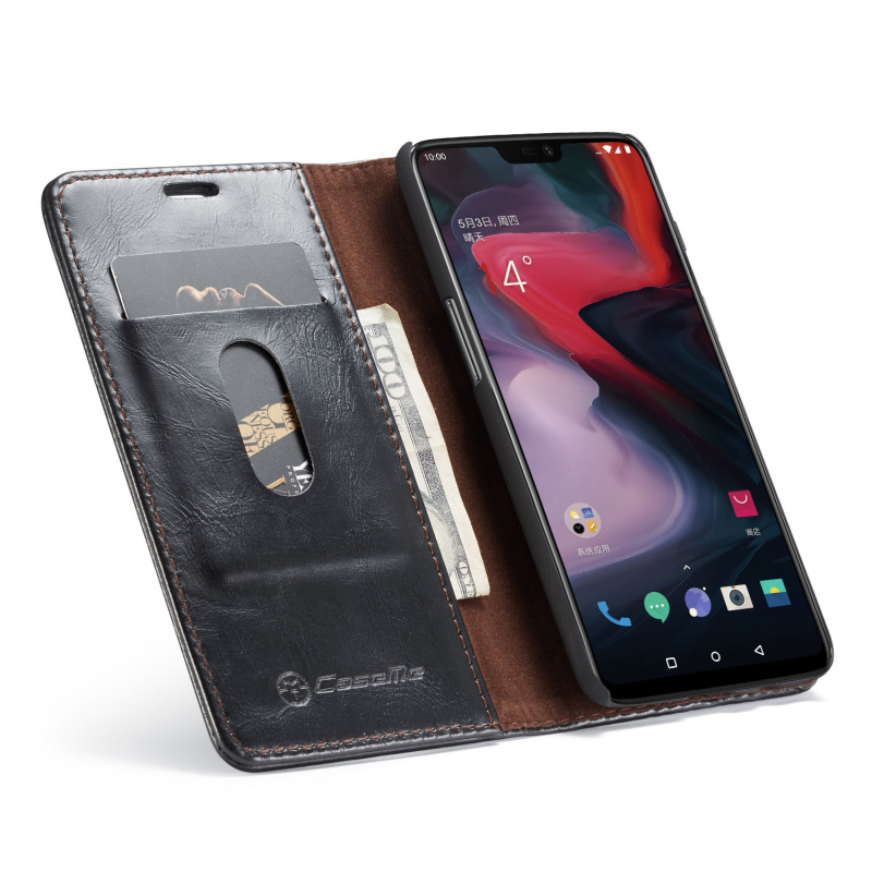 <font><b>Original</b></font> Phone Cases For <font><b>OnePlus</b></font> 6 Luxury Durable Leather Magnetic <font><b>Flip</b></font> Wallet Stand Case For <font><b>OnePlus</b></font> 6 <font><b>Cover</b></font> Coque Funda image