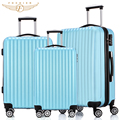 NEW 3 Piece Hardside Travel Luggage Suitcase 20 24 28 Rolling Spinner 4 Wheels 4 Colors ABS Lightweight  Fochier 3 pieces