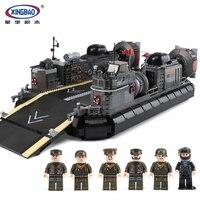 XINGBAO 06019 Genuine Military Series The Amphibious Transport Ship Set Building Bricks Blocks legoingly Toys As Christmas Gifts