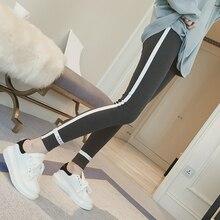 5xl plus big size pants women spring autumn 2017 bermuda feminina elastic waist stretch leggings female A1387