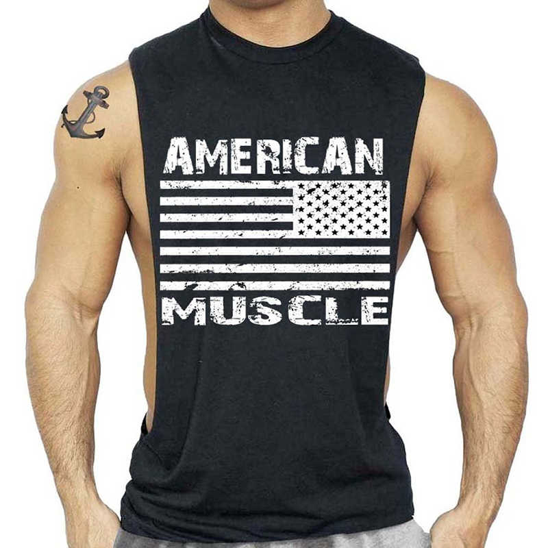 1c144666d496e Low Cut Sexy Men Bodybuilding Fitness Tank Top Workout Sleeveless Shirt  Singlets Muscle Tops Gyms Clothing
