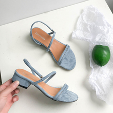 Slippers Women Sandals Summer Blue Shoes Flats Heel Flip Gladiator Brief Flip flop Sandals Women Shoes Woman Back Strap mujer