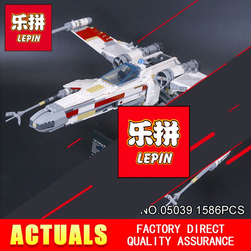 LEPIN 05039 Cool Model 1586Pcs STAR Red Five X Starfighter wing Building Blocks Bricks toy Compatible 10240 for Boy gifts WARS 722pcs lepin 05030 star wars vader tie advanced vs a wing starfighter 75150 building blocks compatible star wars brithday gifts