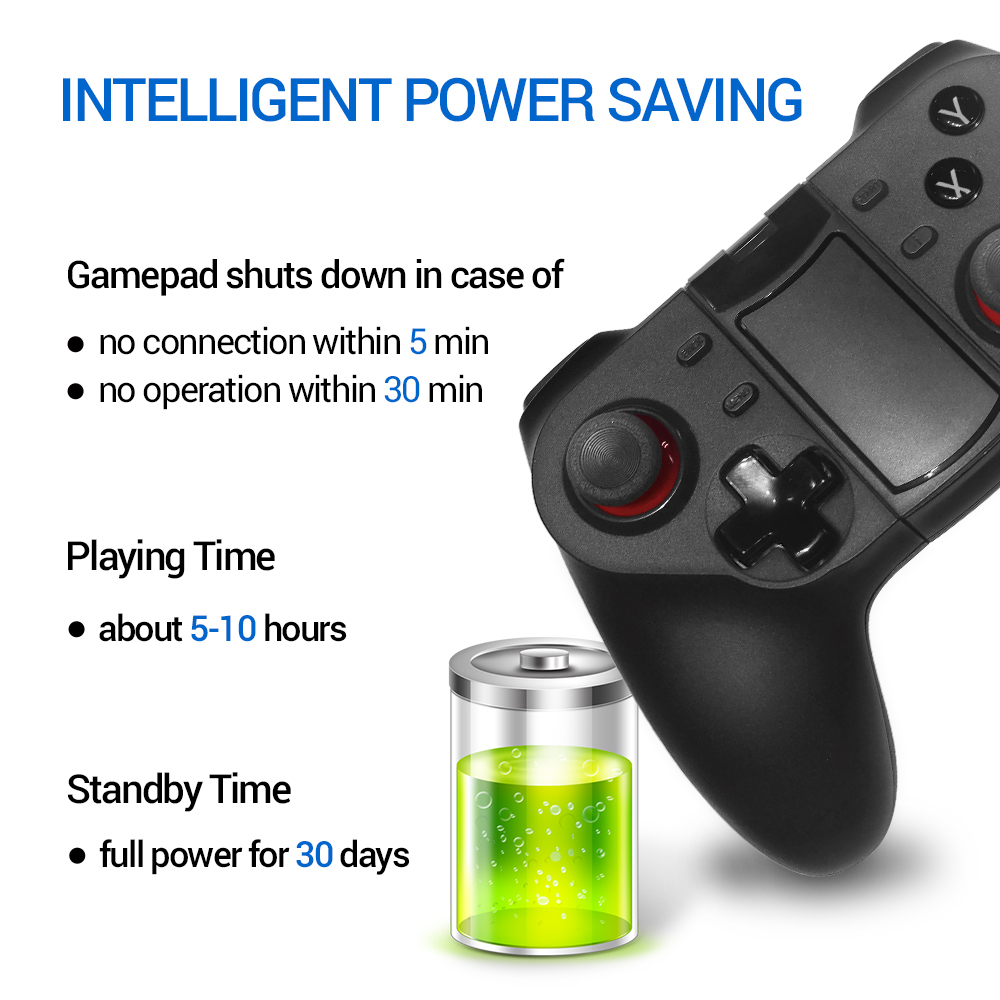 Image 4 - K ISHAKO Wireless Bluetooth Game Controller For Cell Phone Mobile Phone Joystick Controller for iPhone/ iPad/iOS/Android/Tablet-in Gamepads from Consumer Electronics