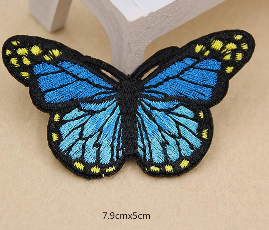 2 x Iron on 7cm x 3cm Sew on,White Guipure Lace,Applique,Dragonfly Motifs