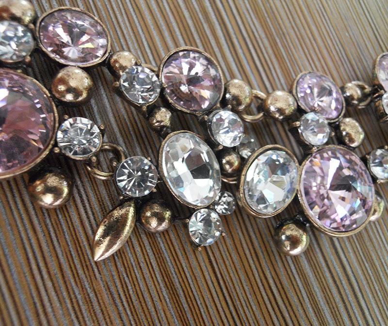 Mode Kristall Large Collar Choker Halskette Frauen Faux Pearl Big Bib - Modeschmuck - Foto 4