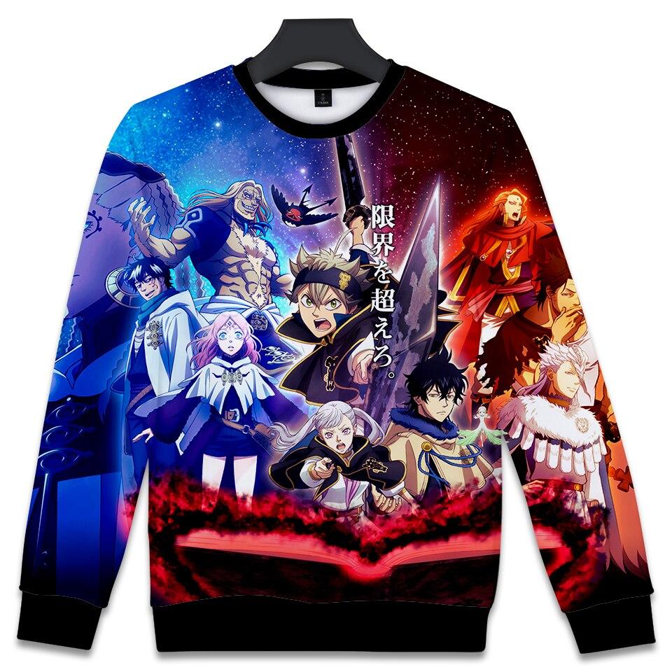 3D Print Black Clover Sweatshirts 3D Print Anime Capless Hoodies Women/Men Fashion Catoon Sweatshirt Hoodies XXS To 4XL