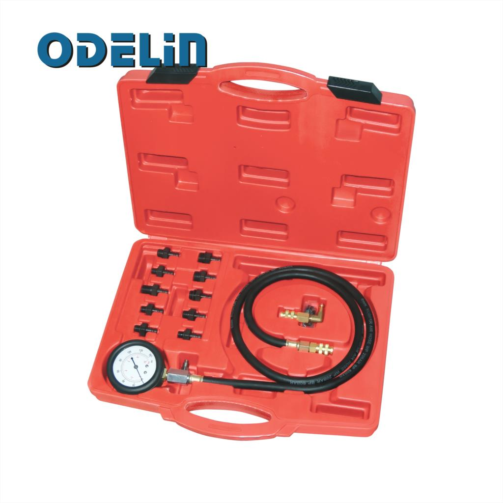 Engine Oil Pressure Test Kit Tester Low Oil Warning Devices Car Garage Tool
