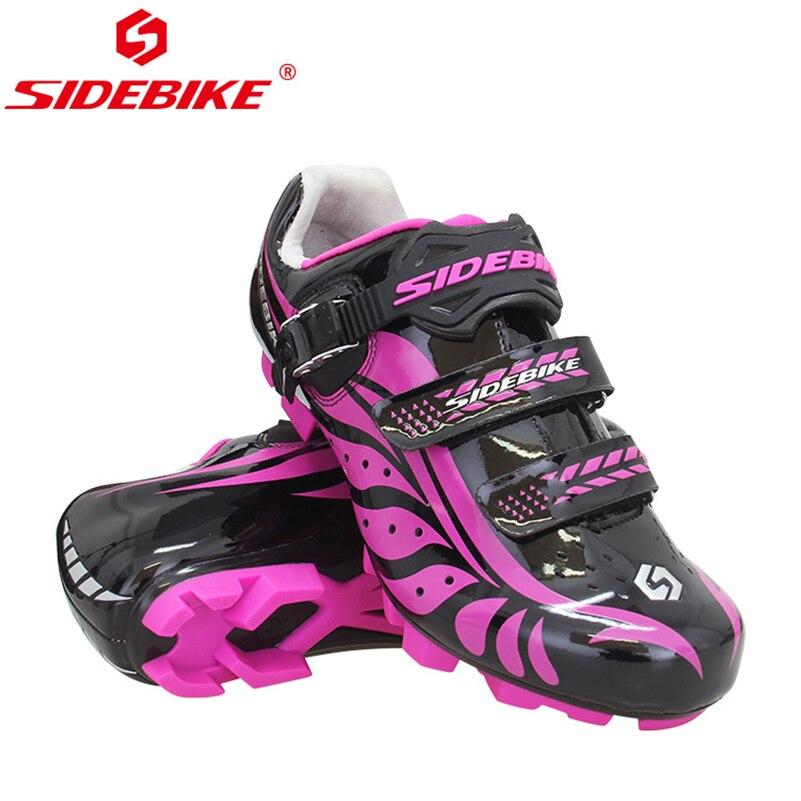 SIDEBIKE femmes chaussures vtt cyclisme anti-dérapant respirant réglable chaussures de vélo Zapatillas Ciclismo vélo vtt vélo chaussures de cyclisme