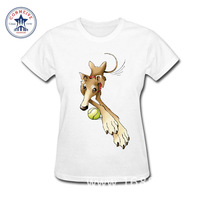 2017 SPIKE THE GREYHOUND Hot High Quality Cotton Funny T Shirt Women