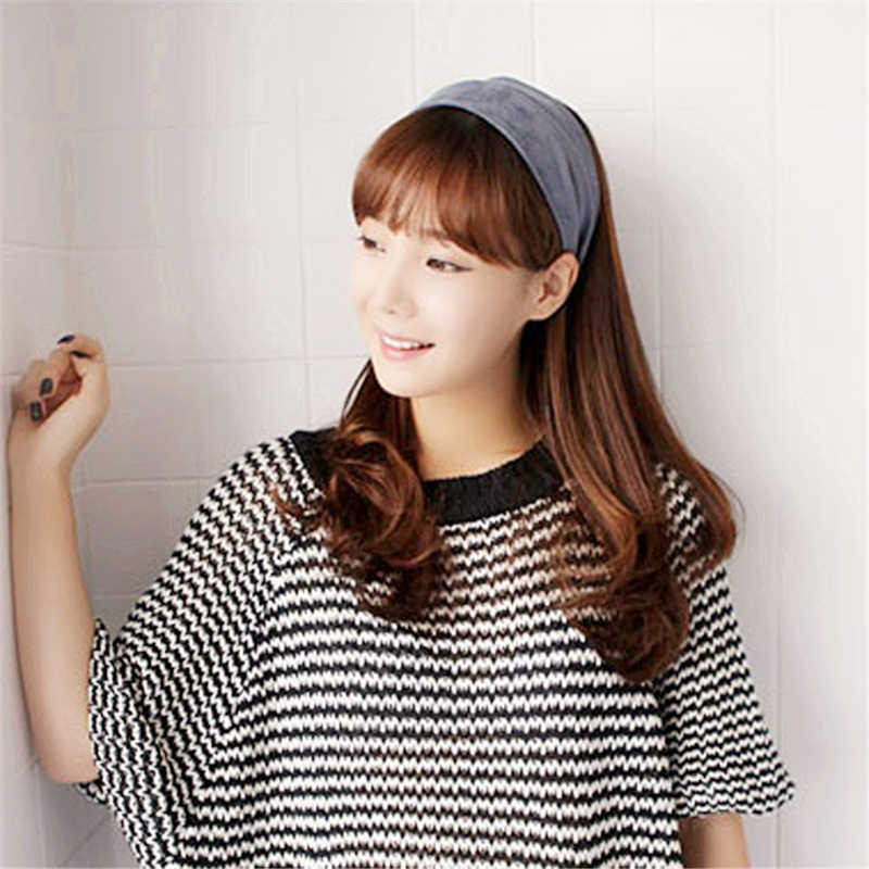 ... Cloth hairband Solid Color hairbands headbands for women girl Wide Head  Hoop Simple Hair Accessories scrunchy ... d34521798630