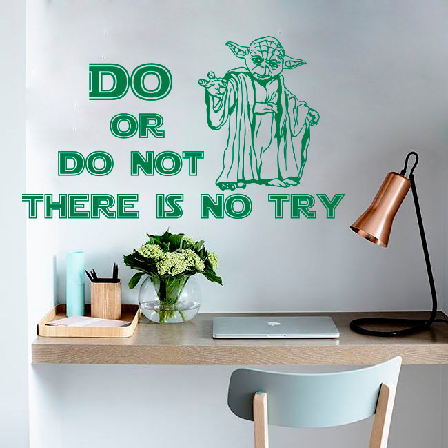 Yoda Quote There Is No Try: Do Or Do Not There Is No Try Jedi Master Yoda Quote Star