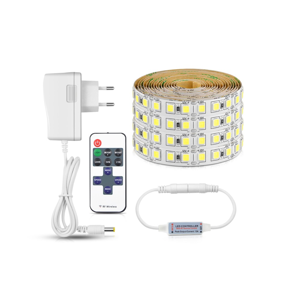 Us 11 39 25 Off Super Bright Led Under Cabinet Light 5m Dimmable Strip With Remoter Control For Kitchen Closet Eu Plug In