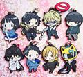 8 pcs/set Anime Durarara 3way standoff figures  DRRR ,Orihara Izaya figure phone strap/keychain pendant toys free shipping