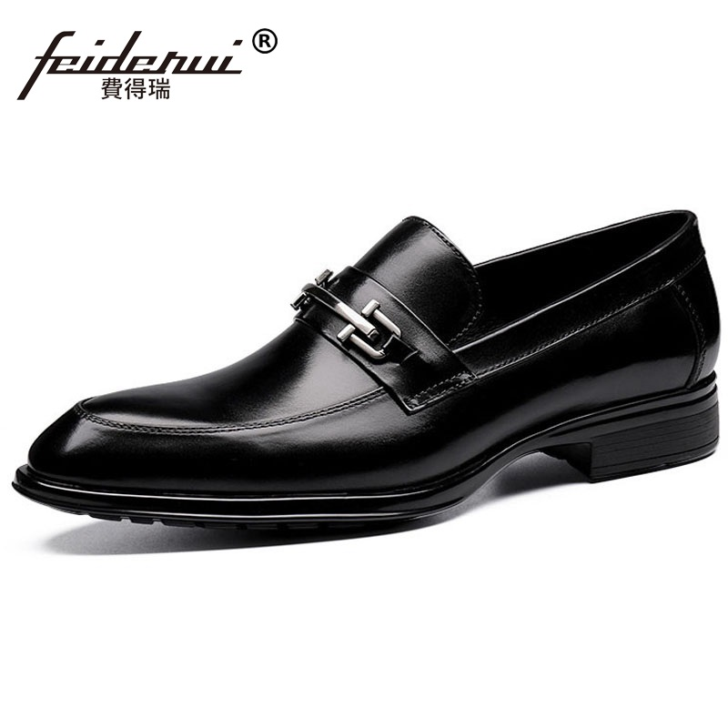 Здесь продается  High Quality Round Toe Man Casual Shoes Genuine Leather Male Business Loafers British Style Comfortable Men
