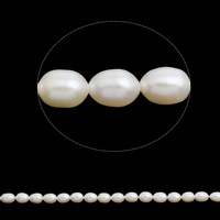 Natural White 5 6mm Cultured Freshwater Pearl Beads Rice Round For Fashion Jewelry Making Bracelet Or