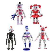5pcs / set På Freddy's Five Nights PVC Actionfigur 15cm Bonnie Foxy Freddy leksaker 5 Fazbear Bear Doll babyleksaker för julklapp