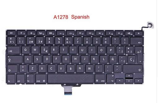 """Nouveau clavier espagnol pour MacBook Pro 13 """"A1278 SP claviers 2008 2009 2010 2011 2012"""