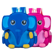 Cute 3D School Bag Waterproof Animals Cartoon Elephant Kids Backpack Baby Outdoors Bags Children School Bags For Girls Boys rainbow baby 3d model shark kids baby bags waterproof wear resistan with anti lost rope boys girls child s school bags backpack