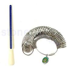 Standard Jewelry Tool Size Finger Ring Metal Sizer Measure Gauge Tool Set T15
