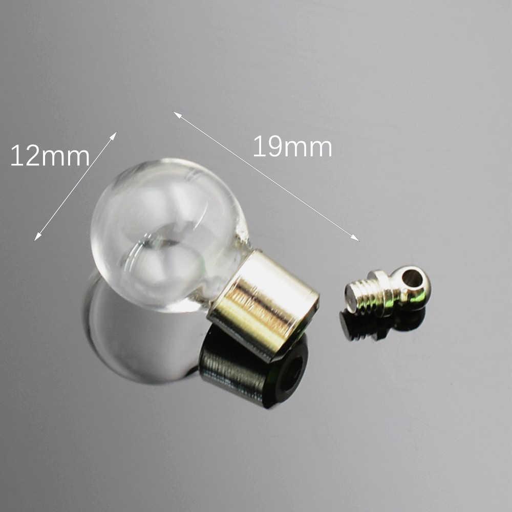 1 peça parafuso tampa de vidro frasco pingente em miniatura desejando garrafa de óleo claro charme nome ou arroz arte mini garrafa de vidro artesanato materia