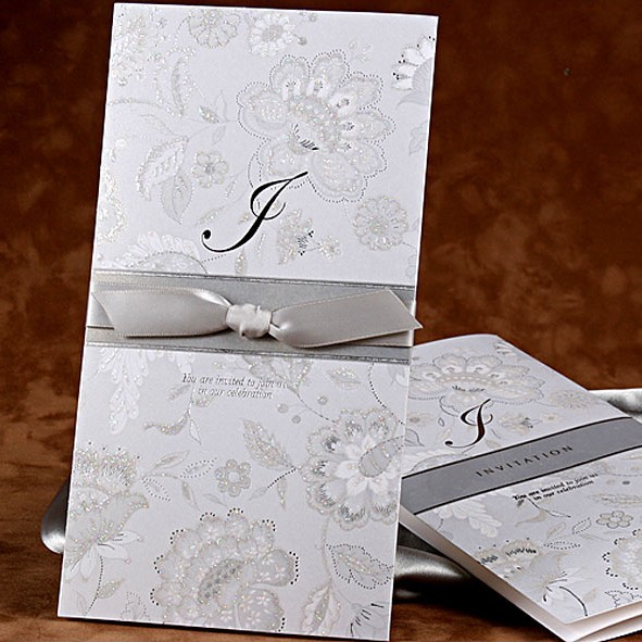 Luxury Silver Wedding Invitation Cards Birthday Party Anniversary Marriage Invitations Card Festa Casamento Convites