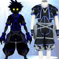 High Quality Custom Made Black 4th Sora Cosplay Costume from Kingdom Hearts Anime Christmas Holloween Plus Size (S 6XL)