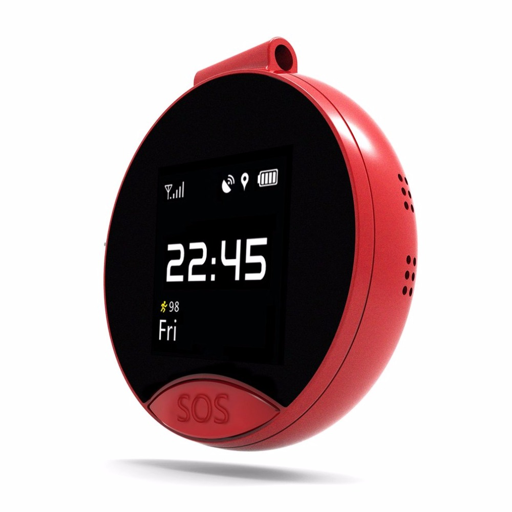 S9 montre de poche Support moniteur petite carte SIM téléphone rouge GPS positionnement montre de poche appel bidirectionnel appel SOS