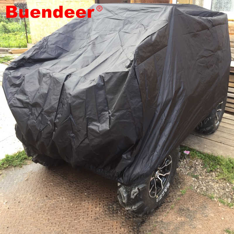 Buendeer Quad Bike ATV Cover Universal Waterproof Dustproof Anti-UV  Beach Vehicle Cover Outdoor Protector Black Size L-XXXL