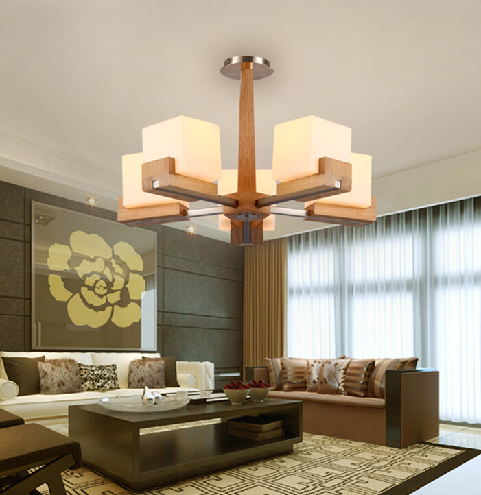 Luminaria American Rural Wood Chandelier Light for Restaurant Living Room Nordic Simple Fashion Sugar Shape Glass Lamp Fixture 2017 suspension luminaria american rural vintage bedroom living room chandelier restaurant iron golden cloth lamp free shipping