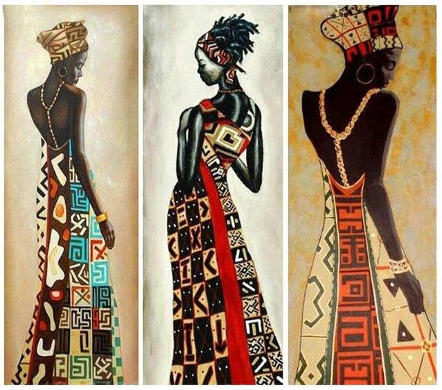 5D bricolage diamant peinture point de croix femme cristal diamant broderie africaine femme mosaïque peinture artisanal décor à la maison