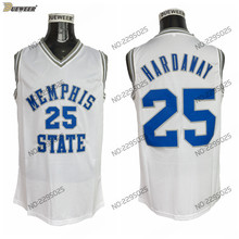 4d566efce DUEWEER Mens Memphis Tigers Penny Hardaway Basketball Jersey White Memphis  State 25 Penny Hardaway College Basketball