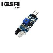 10 шт./лот умный автомобиль робот светоотражающий фотоэлектрический 3pin ИК инфракрасный избегание препятствий сенсор модуль для arduino Diy Kit
