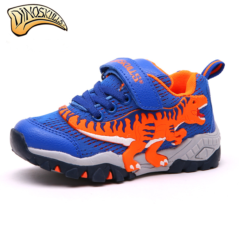 Dinoskulls Children Kids Boys Shoes Sneakers Mesh Breathable Sport Shoes 2017 Running Sneakers Casual 3D Dinosaur Shoes цена