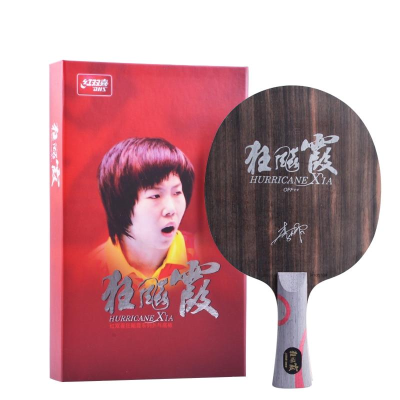 Original NEW DHS Hurricane Xia wood professional table tennis blade Racket Ping Pong Bat недорго, оригинальная цена