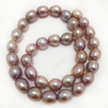 16 inches AA+ 10-11mm Natural Lavender Cultured Freshwater Rice Pearl Loose Strand