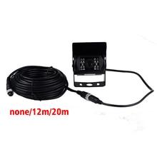 HD CCD 120 градусов ИК ночного видения Водонепроницаемый 4PIN Парковка заднего вида Камера CMOS Автобус Грузовик Камера для шины и грузовик