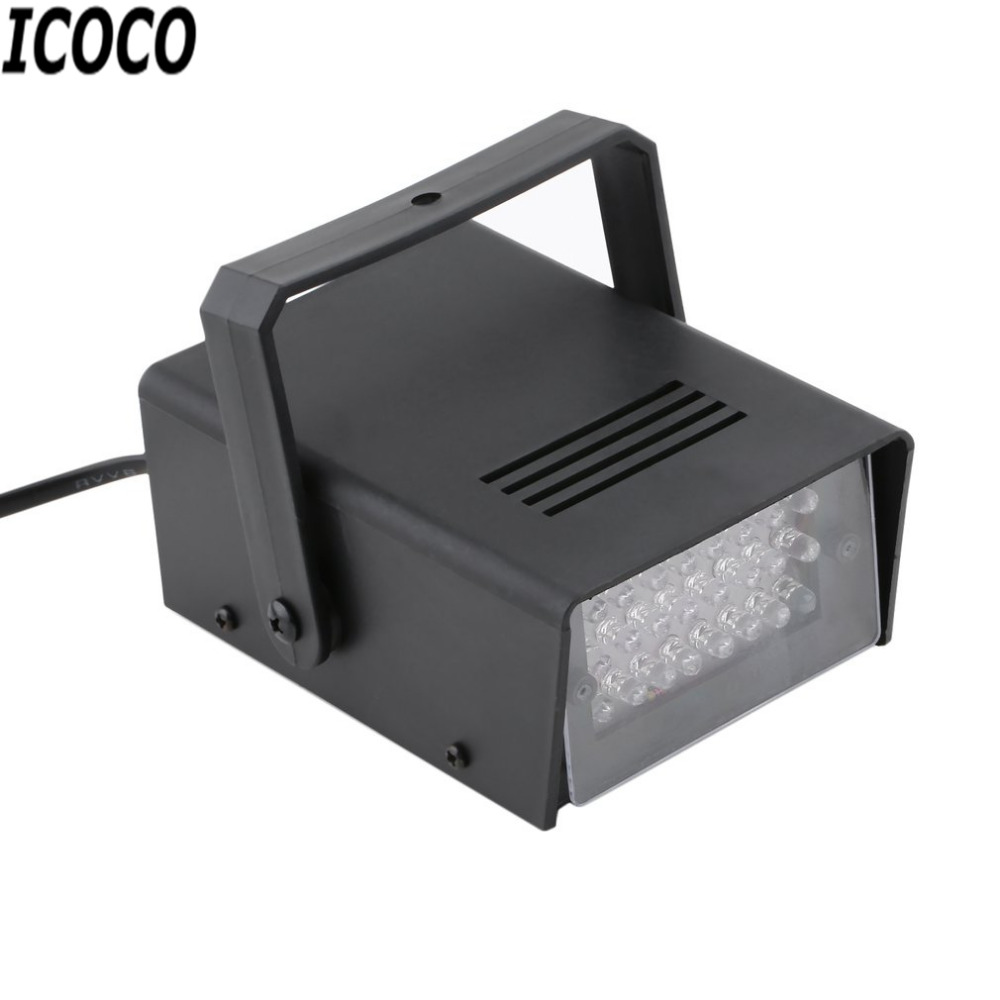 ICOCO 2017 New Mini 24 LED Strobe Disco DJ Flash Lamp Club Stage Lighting Bulb Party Bar Brand New