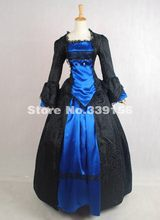 High-end Black And Green Brocade Medieval Renaissance Victorian Period Ball  Gown Ball Gown 18th Century Gothic Victorian Dress b657715d8815