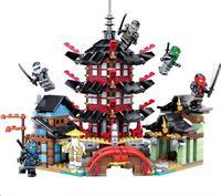 KAZI 737pcs 2017 105 Ninja Super Heroes Temple Of Airjitzu Building Blocks Toys Gift Compatible With