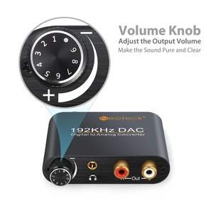 Image 2 - Prozor digital ao conversor de áudio analógico rca 3.5mm jack coaxial toslink para estéreo analógico 192khz conversor de alumínio dac adaptador