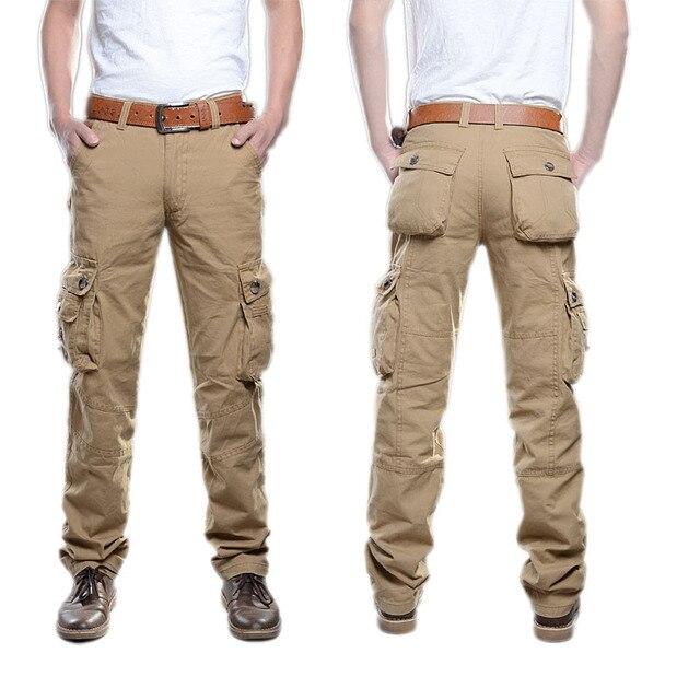 8b81be8743 2019 nueva táctica pantalones militar hombres camuflaje carga Pantalones  Hombre Pantalones Casual Plus tamaño de gran