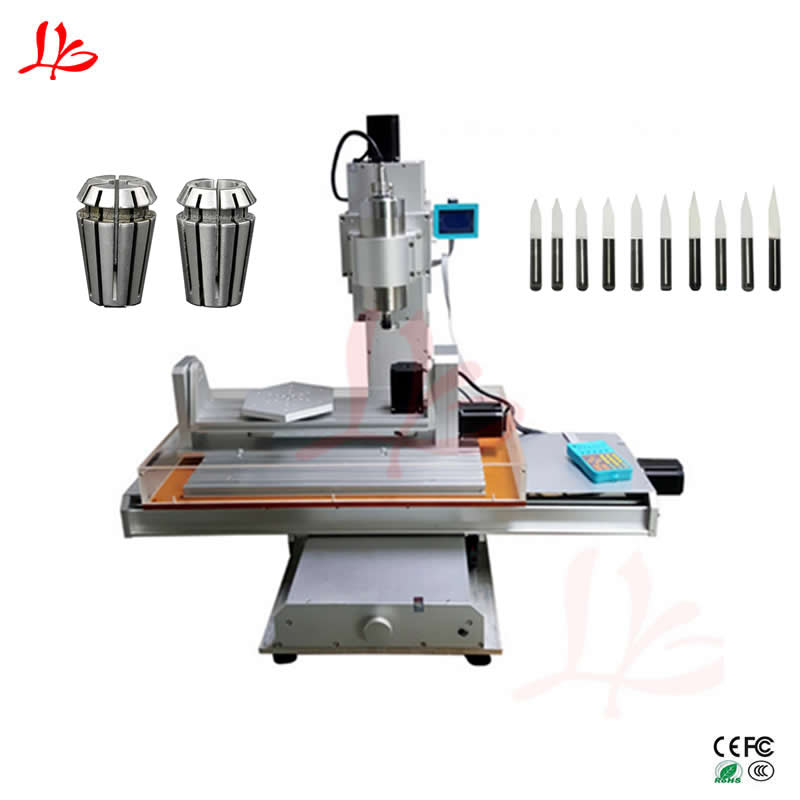 5axis Cnc 3040 Engraving Machine Vertical Column Type Metal Milling Router 1500W Z Axis Stroke 150mm